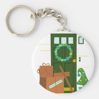 Packages at the Door Key Chain