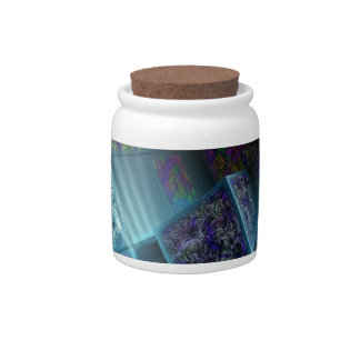 packages full of colorful pulses candy jars