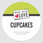 PACKAGING PRODUCT LABEL :: made with love 1 Round Sticker