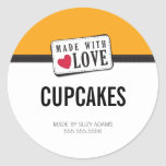 PACKAGING PRODUCT LABEL :: made with love 2 Round Sticker