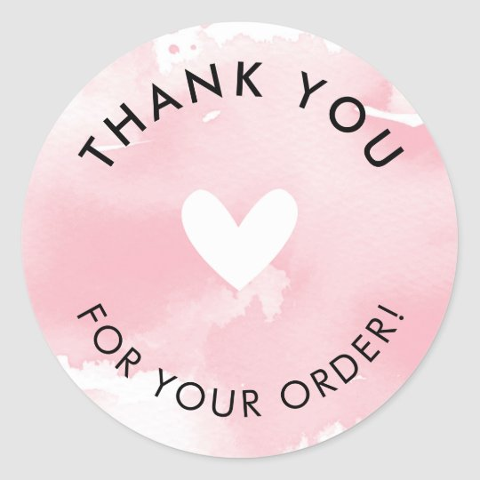 Thank You For Your Order >> Packaging Product Label Thank You For Your Order Zazzle Com