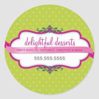 PACKAGING SEAL cute logo stylish pink lime green