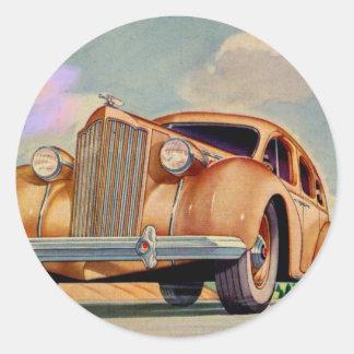 Packard 1939 8 estupendos pegatina redonda