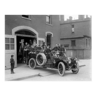 Packard Fire Squad, 1911 Postcard