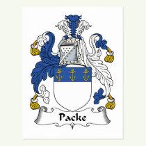 Packe Family Crest Postcard