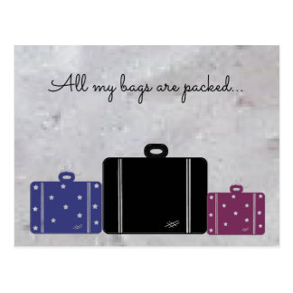 Packed Suitcases With Saying Postcard