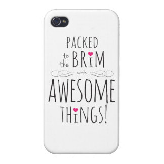 Packed to Brim with Awesome Things iPhone 4/4S Case
