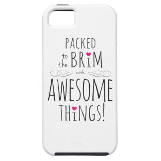 Packed to Brim with Awesome Things iPhone SE/5/5s Case