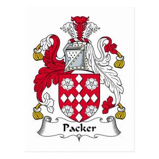 Packer Family Crest Postcard