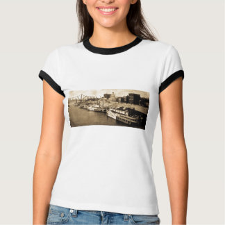 Packet Landing Monongahela River Vintage Postcard T-Shirt