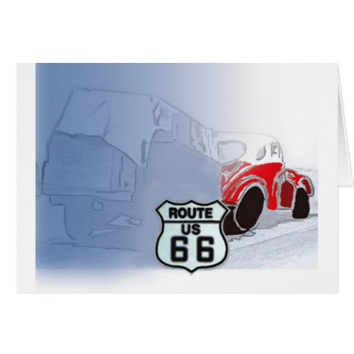 Packin It Up On Route 66 Card