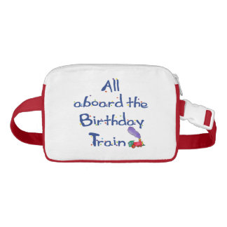 Packing All Aboard the Birthday Train Fanny Pack