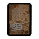 Packing Lunch Boxes WWII Rectangular Photo Magnet