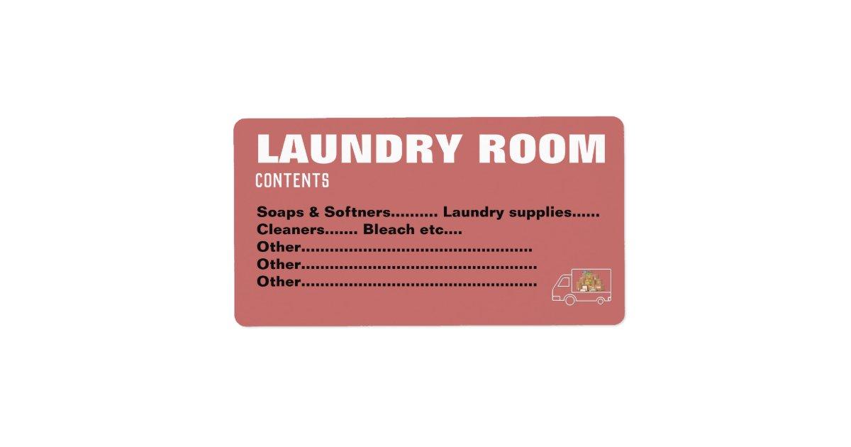 Packing Moving Organizing Labels Laundry Room Zazzle Com