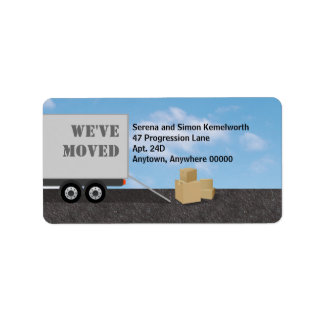 Packing Up Moving Announcement Address Label