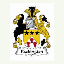 Packington Family Crest Postcard