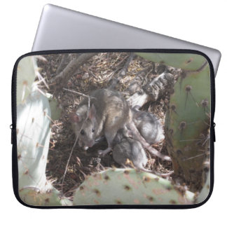 Packrat Mother with Babies Laptop Computer Sleeve