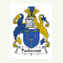 Packwood Family Crest Postcard