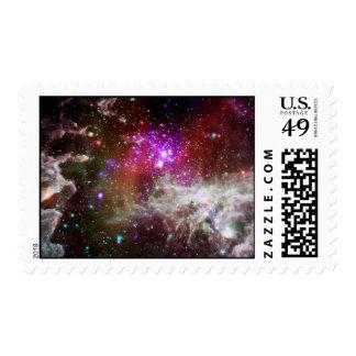 Pacman Nebula Postage Stamp