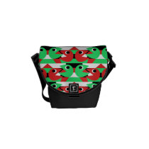 Pacmen Pattern Courier Bag
