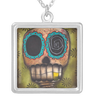 Paco el Feliz Square Pendant Necklace