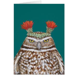 Paco la tarjeta de madriguera del búho