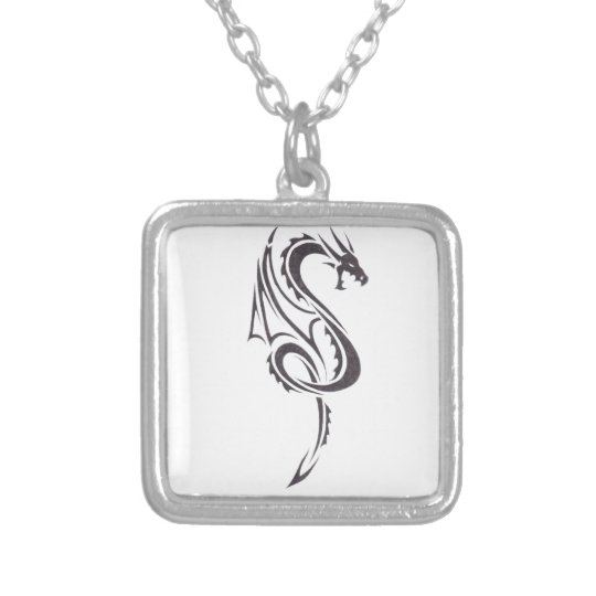 Pact Of The Dragon 2 Silver Plated Necklace