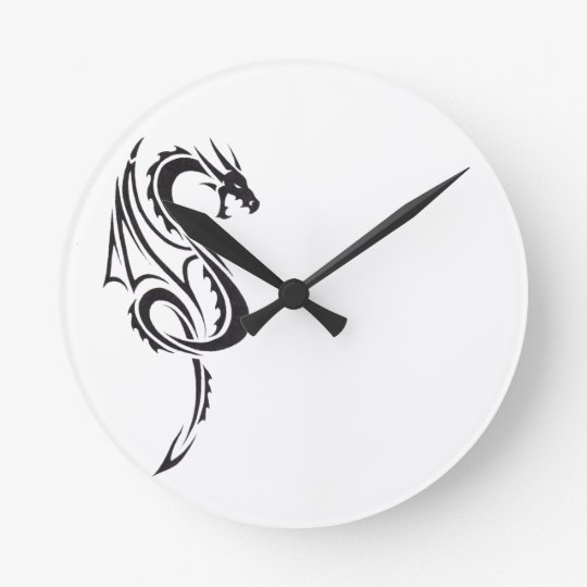 Pact of the Dragon B1 Round Clock