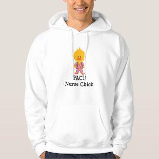 PACU Nurse Chick Hooded Sweatshirt