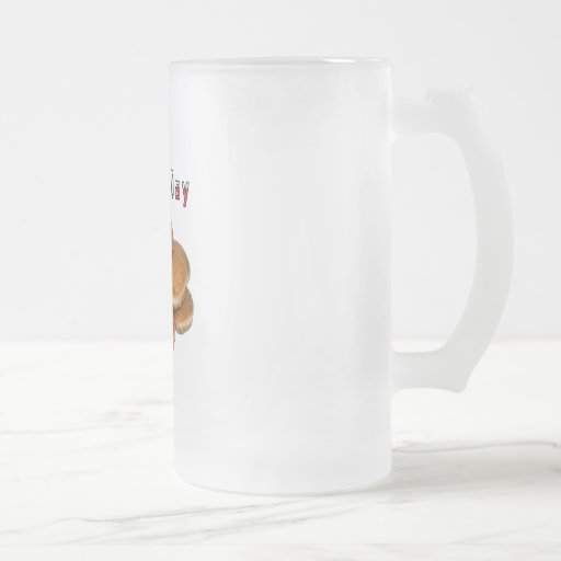 Paczki Day 16 Oz Frosted Glass Beer Mug