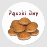 Paczki Day Classic Round Sticker
