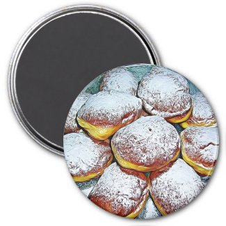 Pączki Day February 13th Food Holiday Button