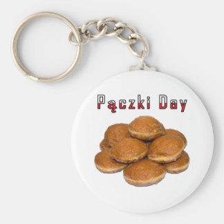 Paczki Day Basic Round Button Keychain