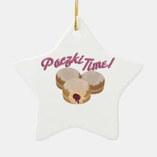 Paczki Time! Double-Sided Star Ceramic Christmas Ornament