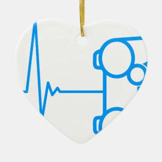 Pad Heart Beat Ceramic Ornament
