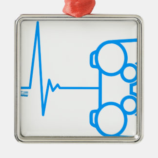 Pad Heart Beat Metal Ornament