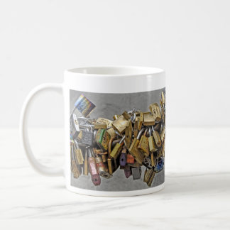 Pad Locks of Love Florence Italy Classic White Coffee Mug