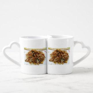 Pad Thai ผัดไทย Thailand Street Food Lovers Mug Sets