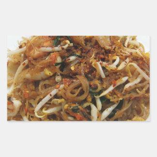 Pad Thai ผัดไทย Thailand Street Food Rectangular Stickers