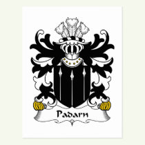 Padarn Family Crest Postcard