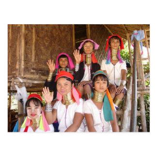 Padaung Family Postcard