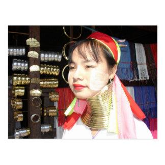 Padaung Woman Postcard