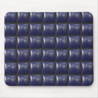 Padded Cell Walls Texture Blue Leather Pattern Mousepads
