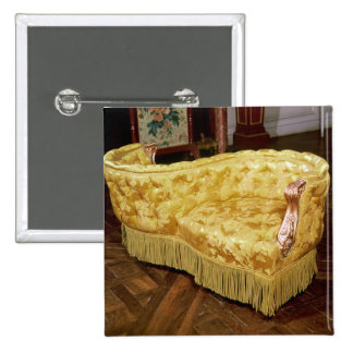 Padded love seat, Napoleon III Period 2 Inch Square Button