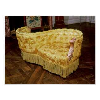 Padded love seat, Napoleon III Period Poster