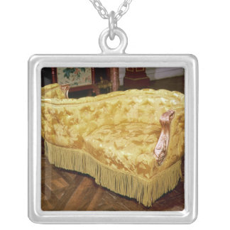 Padded love seat, Napoleon III Period Silver Plated Necklace