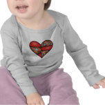 Padded Quilted Stitched Heart Red-03 Tshirts