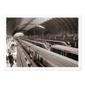 Paddington Station, London. Mini Photo (bordered) Large Business Card