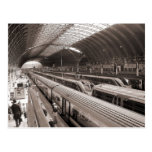 Paddington Station, London. Postcard