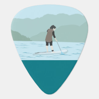 paddle board and let the music flow guitar pick